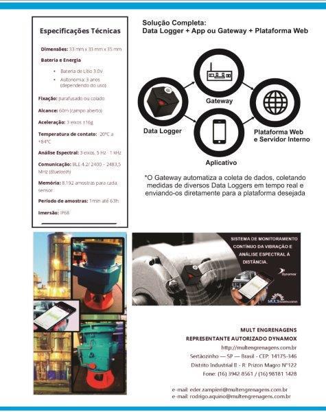 Sensores de Monitoramento (Vibração e Temperatura)